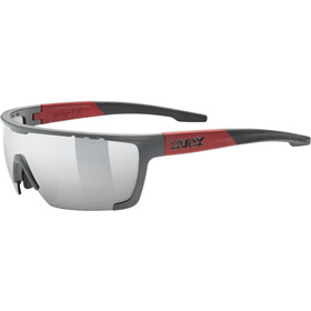 UVEX Sportstyle 707 Glasses, grijs/rood